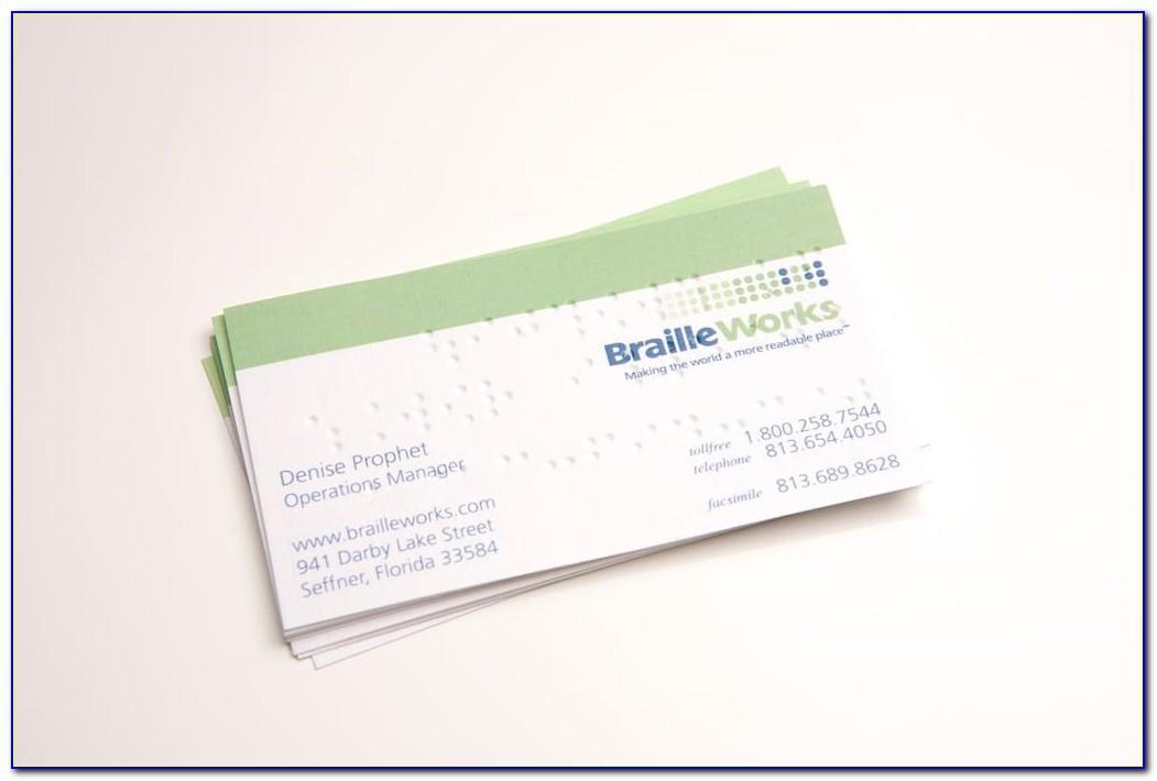 Braille Business Card Embosser