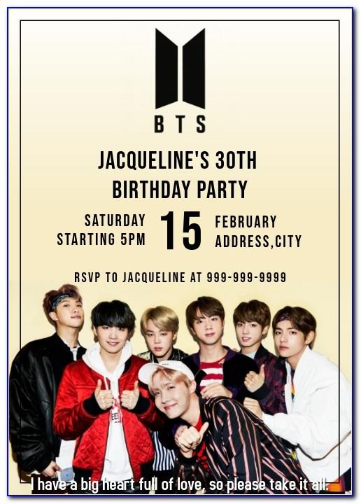 Bts Birthday Card Download