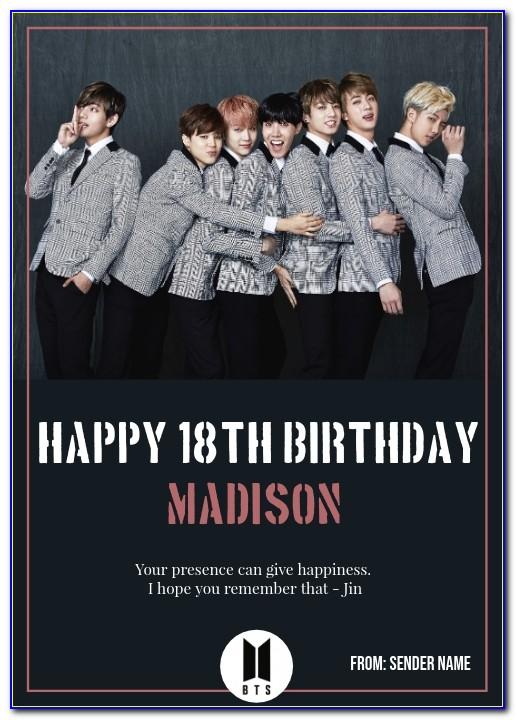 Bts Birthday Card Uk