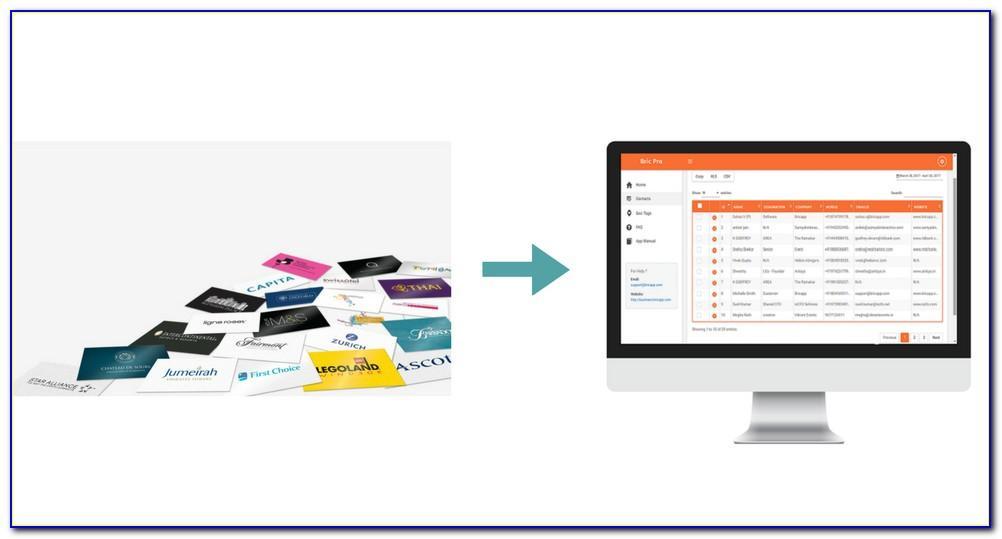 Bulk Business Card Scanning Service