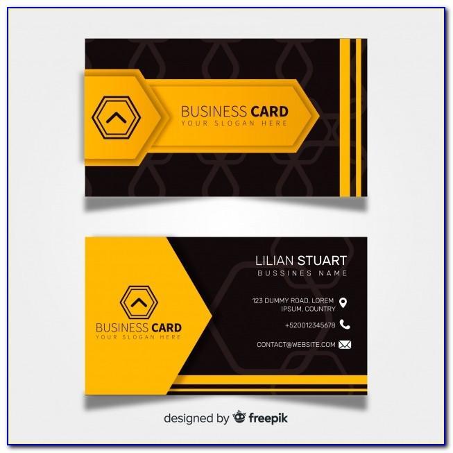 Business Card Design Vector Cdr
