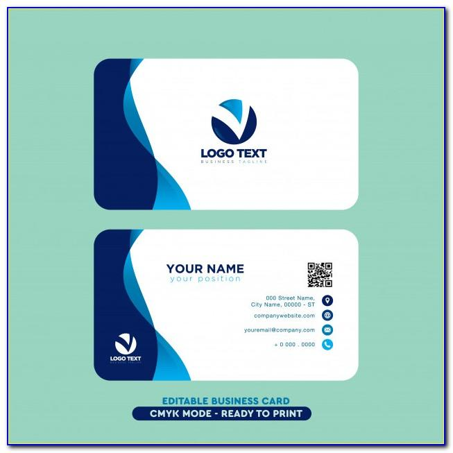 Business Card Design Vector File Free Download