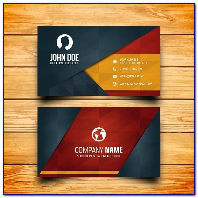 Business Card Design Vector Freepik