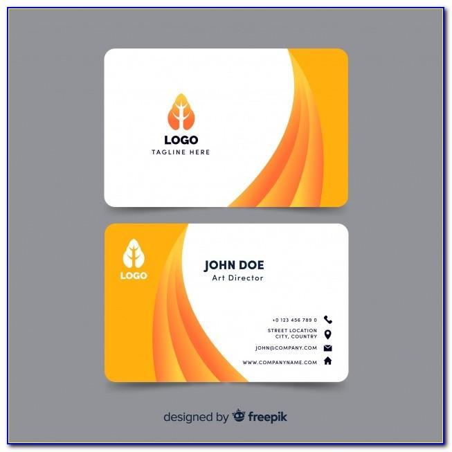 Business Card Design Vectors Free Download