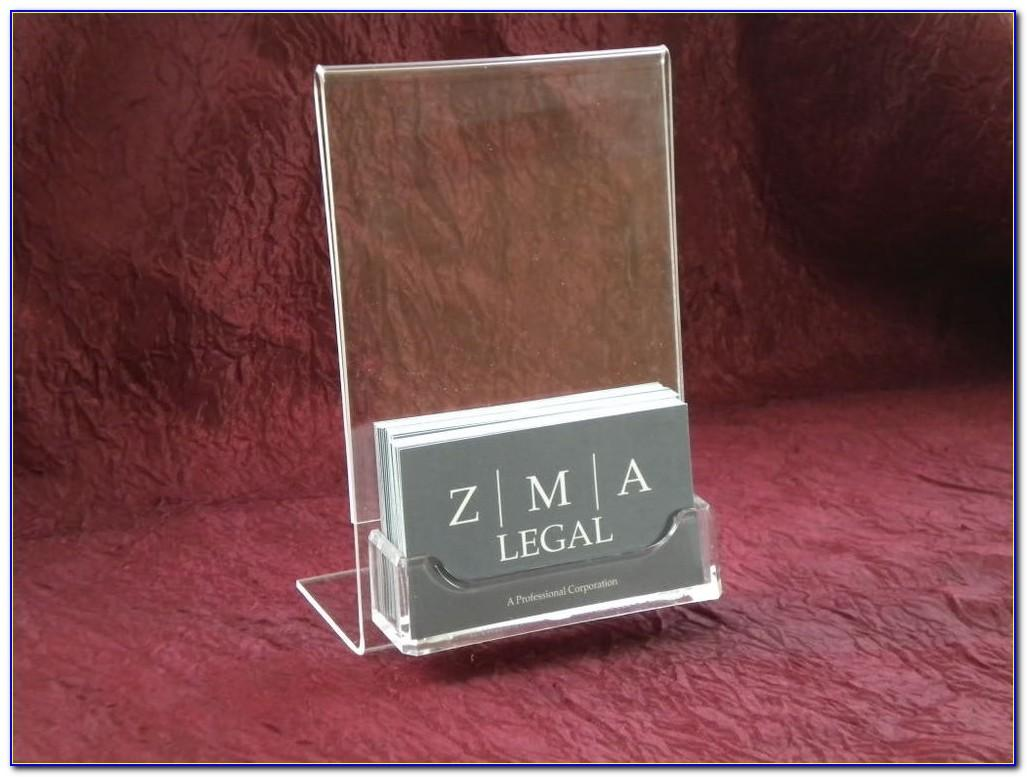 Business Card Display With Acrylic Sign Holder