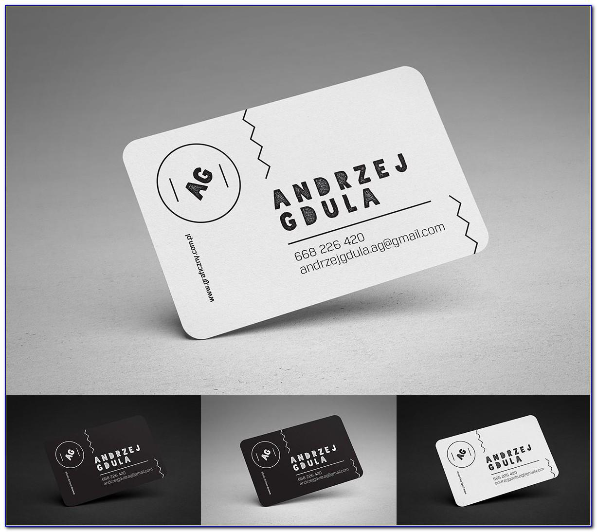 Business Card Mockup Rounded Corners