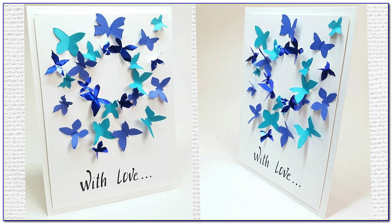 Butterfly Birthday Card Flying