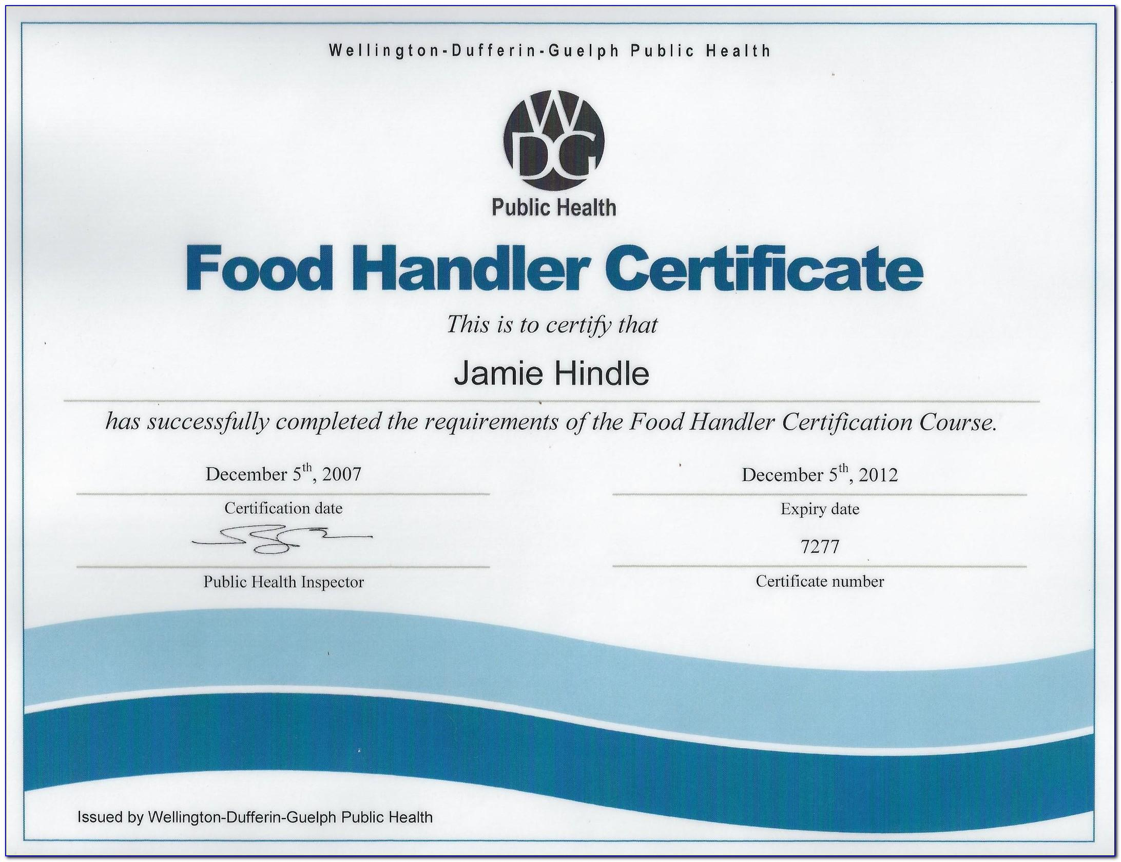 California Food Handlers Card Test Questions