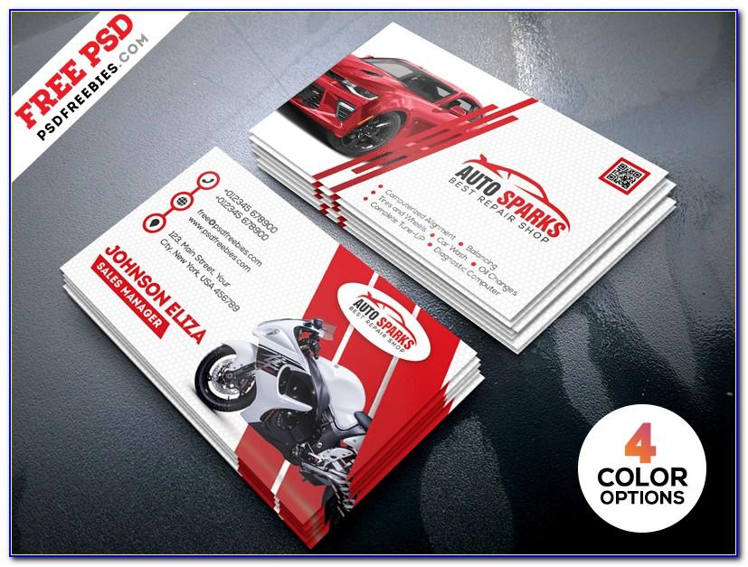 Car Mechanic Business Card Template