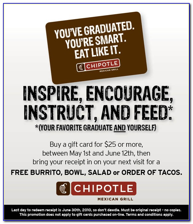 Celebrity Free Chipotle Card