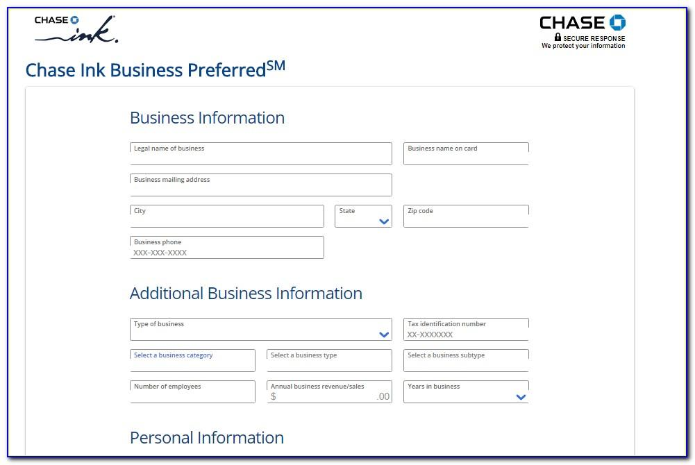 Chase Business Credit Card Apply