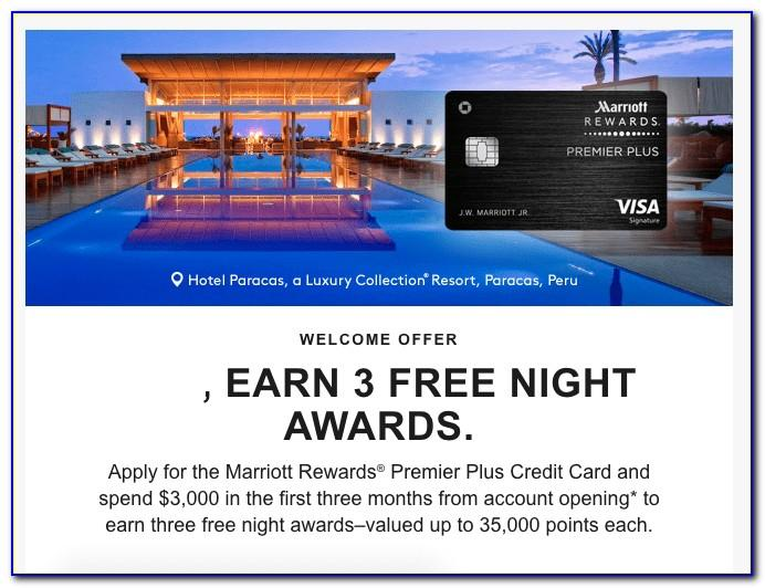 Chase Marriott Credit Card Free Night