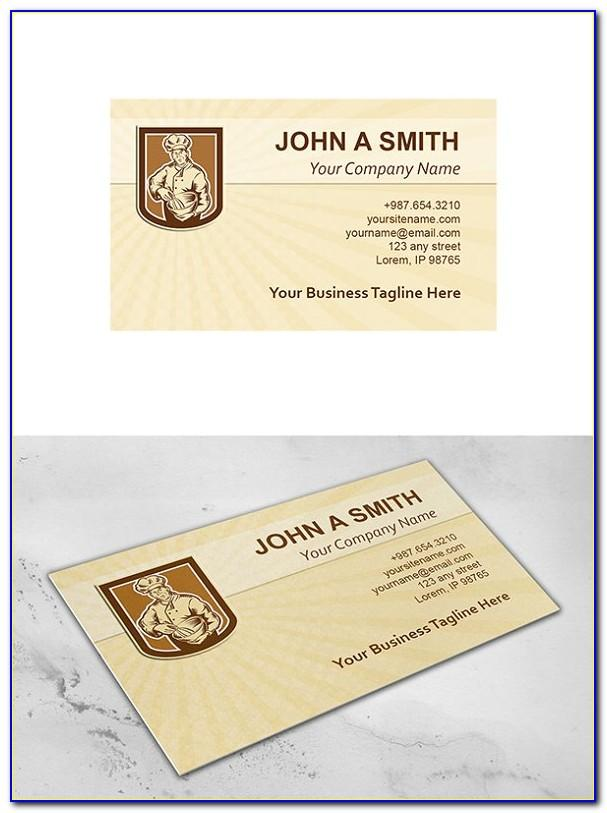 Chef Business Card Template Psd