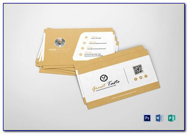 Chef Business Cards Templates Free