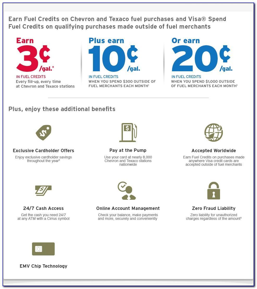 Chevron And Texaco Business Card Program Application