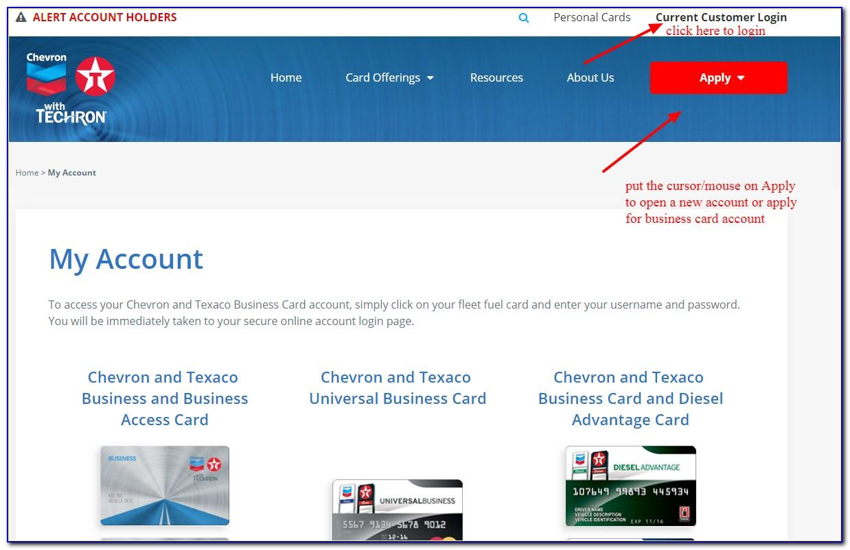 Chevron Texaco Business Cards