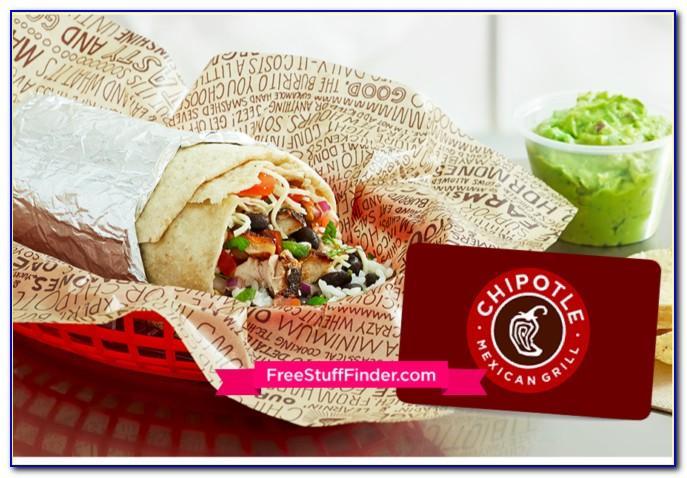 Chipotle Gift Card Free Burrito