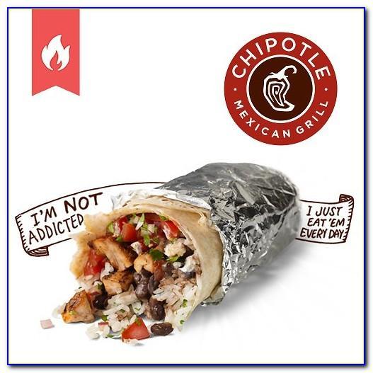 Chipotle One Free Burrito Card