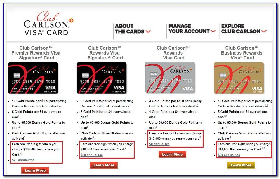 Club Carlson Business Card