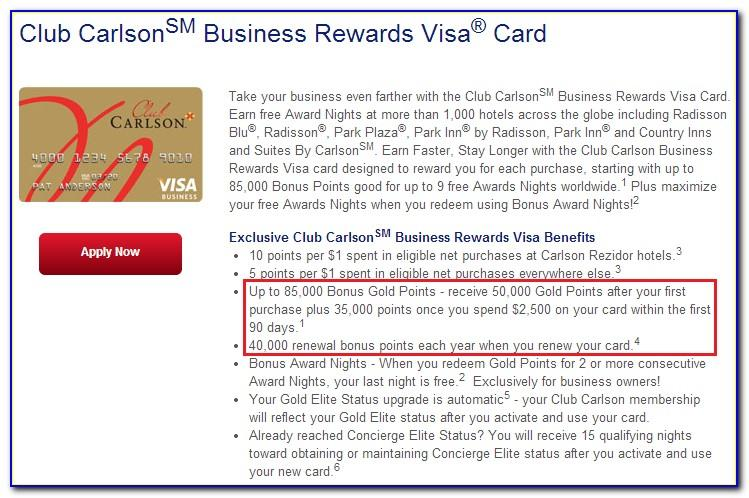 Club Carlson Business Credit Card