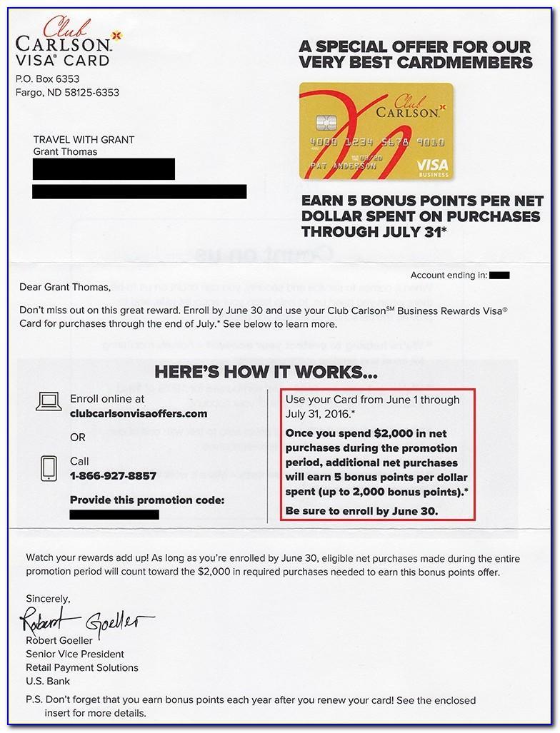 Club Carlson Business Rewards Visa Card
