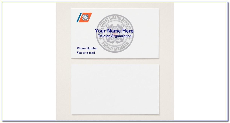 Coast Guard Auxiliary Business Cards