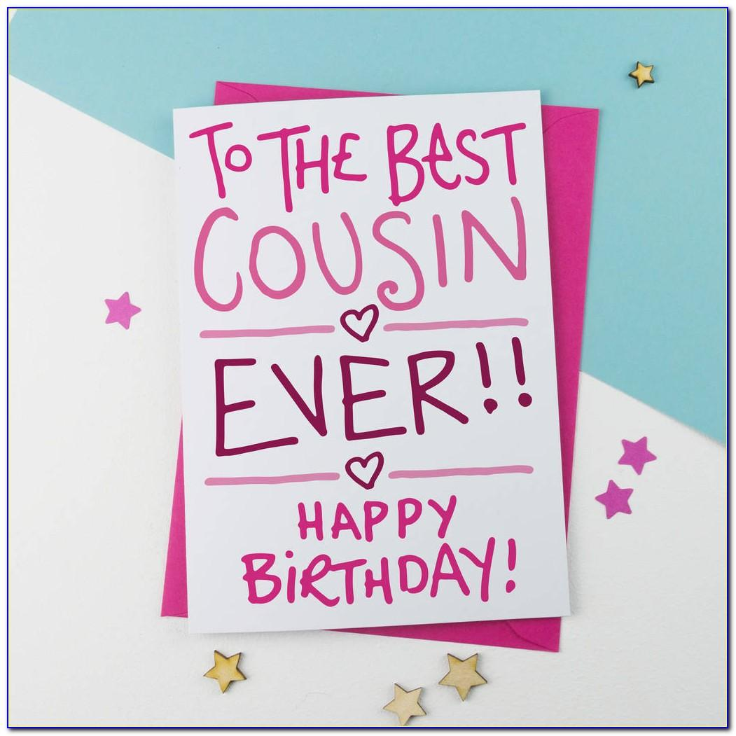 Cousin Birthday Card Funny