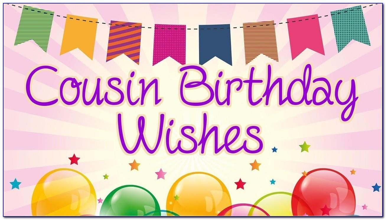 Cousin Birthday Card Male