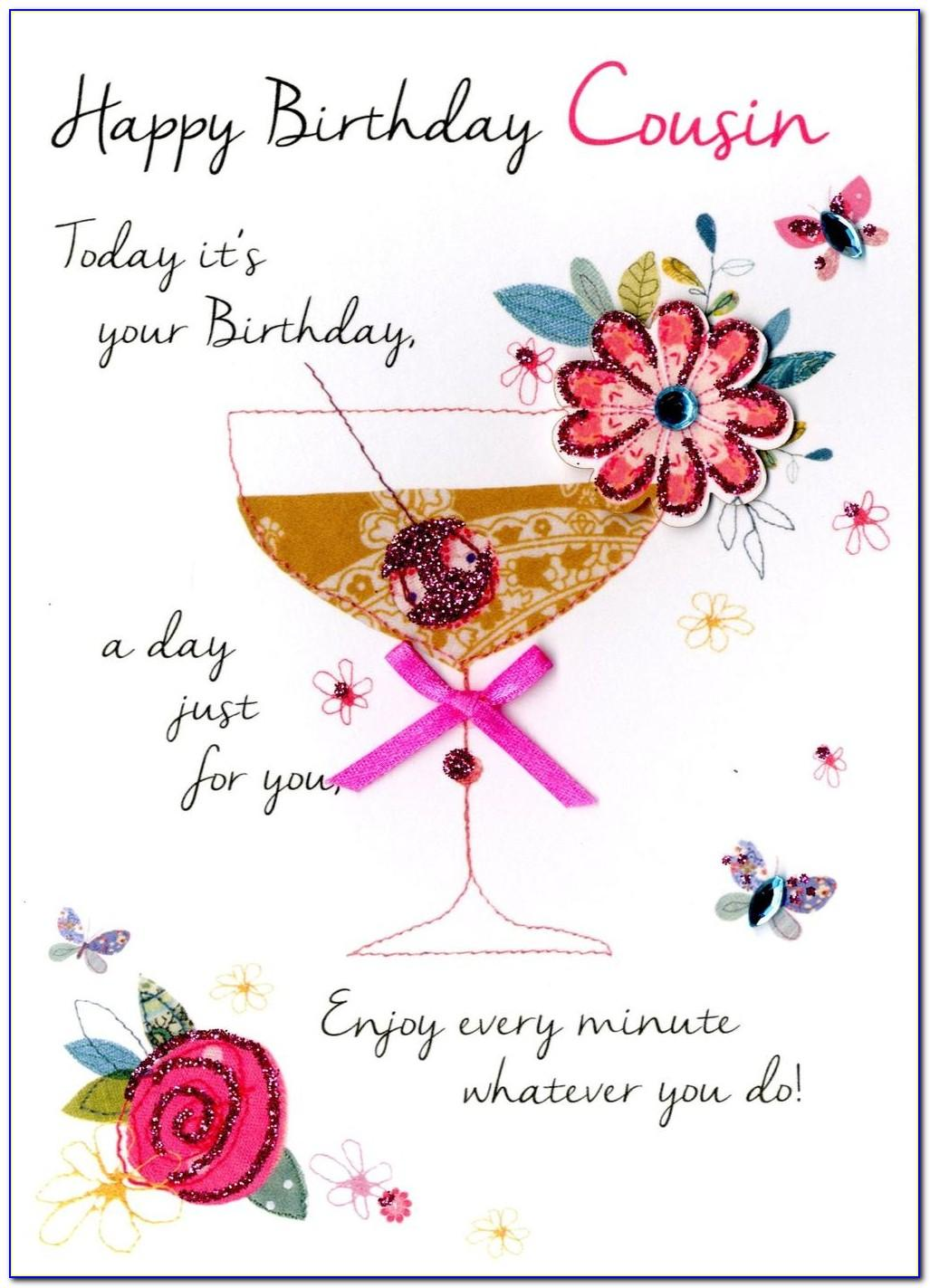 Cousin Birthday Card Verses
