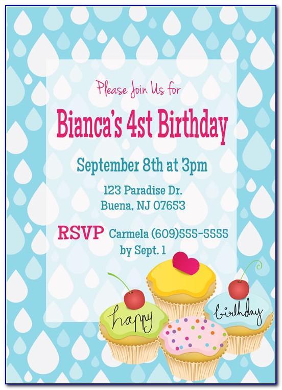 Create 2nd Birthday Invitation Card With Photo Free