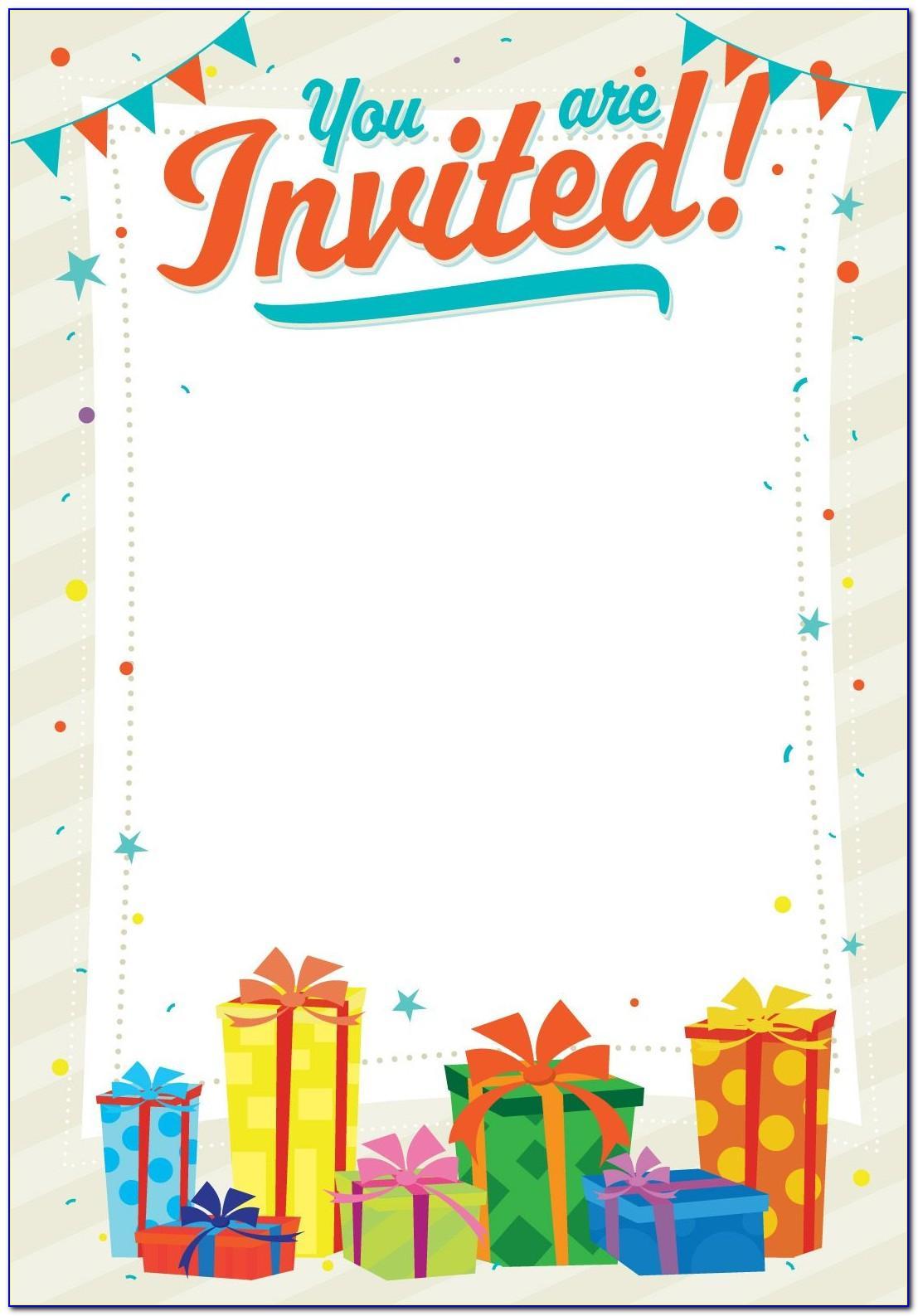 Create Birthday Invitation Card Online Free Printable