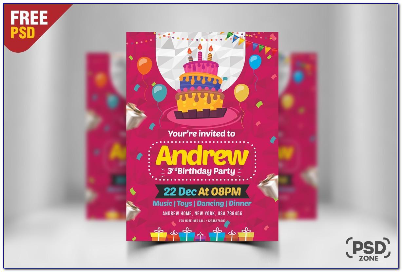 Create Birthday Invitation Card With Photo Free In Marathi