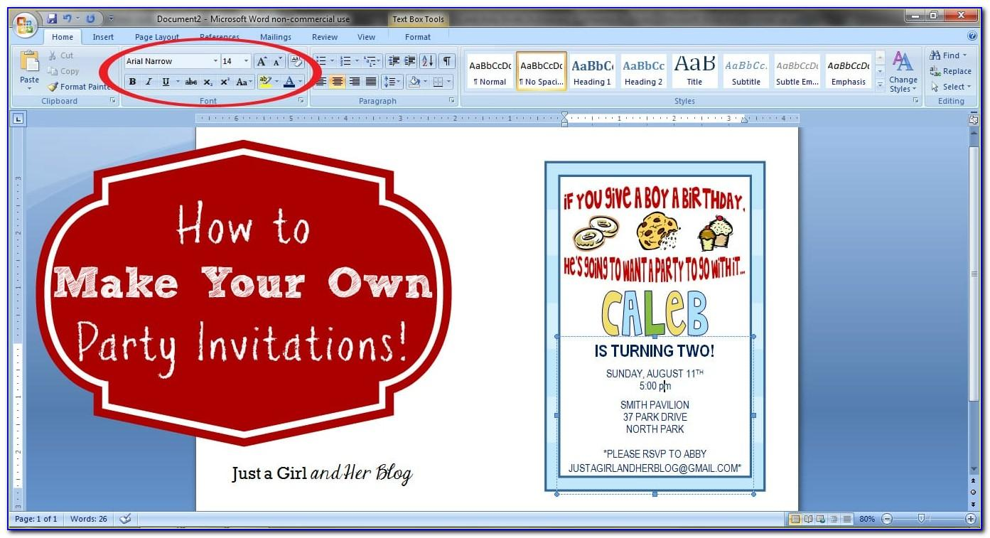 Create First Birthday Invitation Card With Photo Free