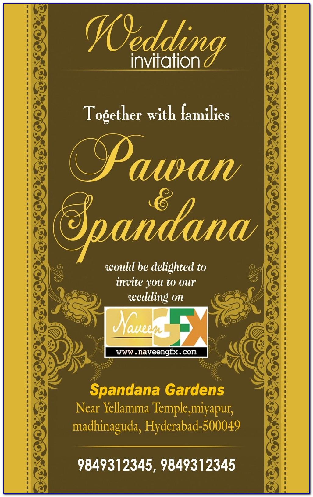 Create Indian Invitation Card Online Free Download