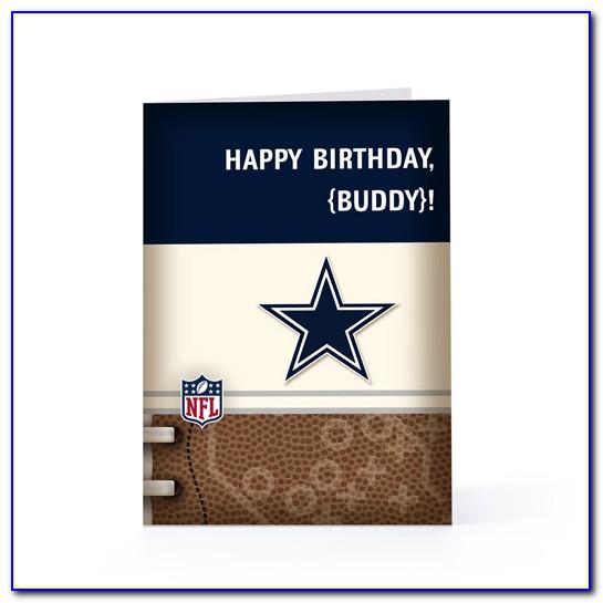 Dallas Cowboy Themed Birthday Card