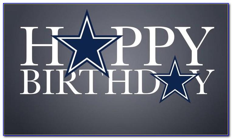 Dallas Cowboys Birthday Ecard