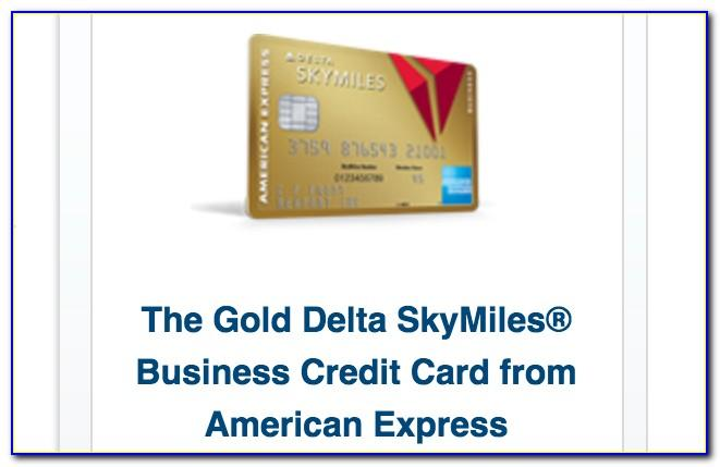 Delta Airlines Business Card