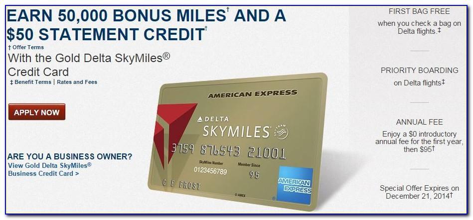 Delta Business Card Offer