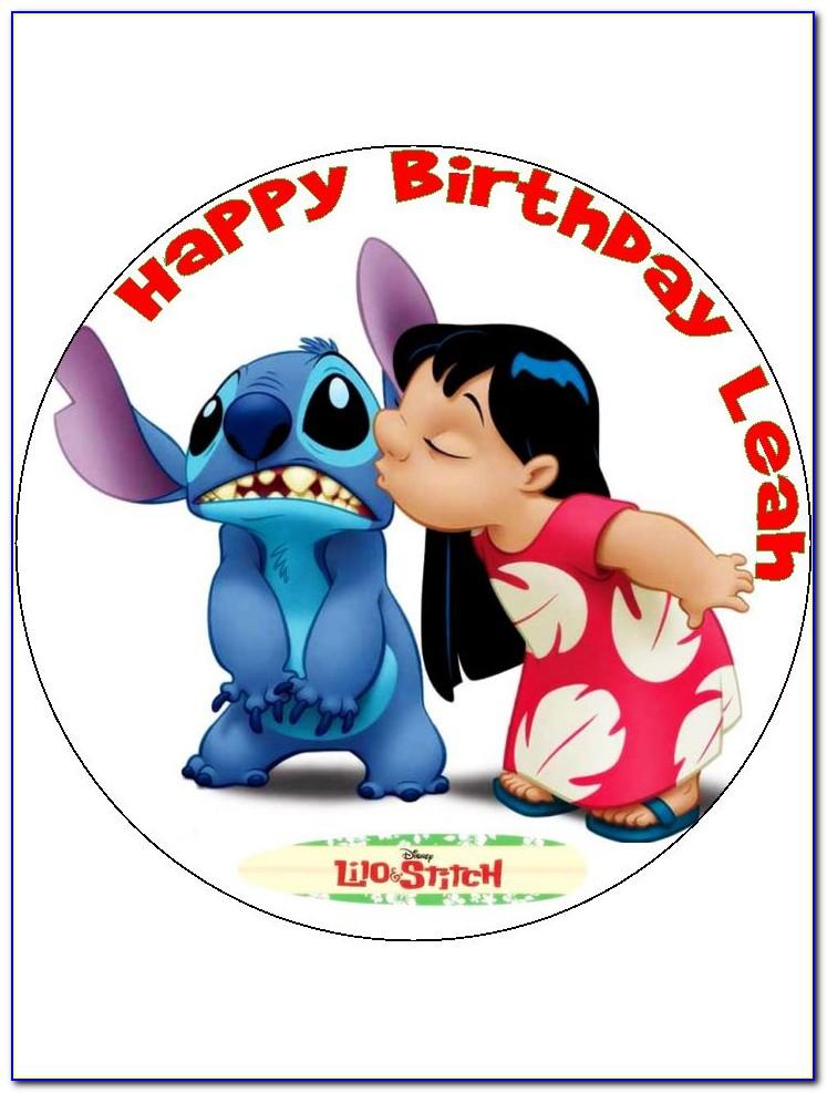 Disney Lilo And Stitch Birthday Card