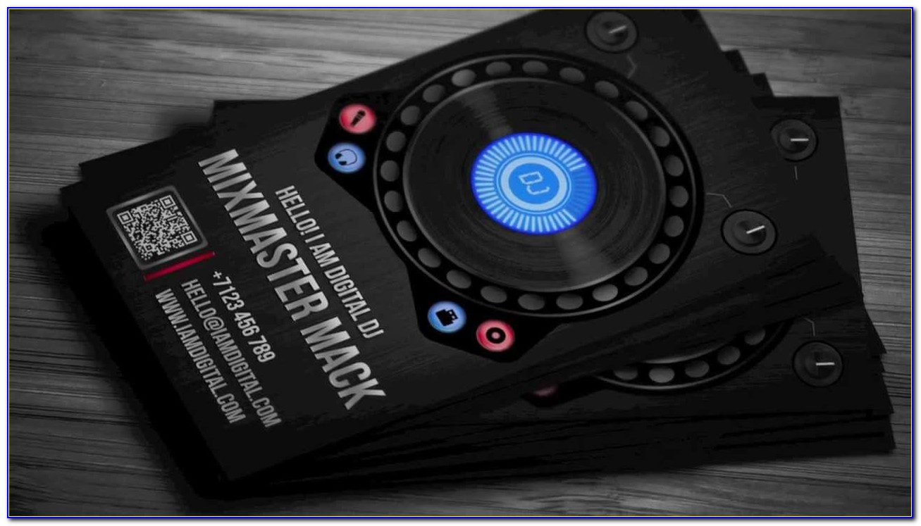 Dj Business Card Background Design