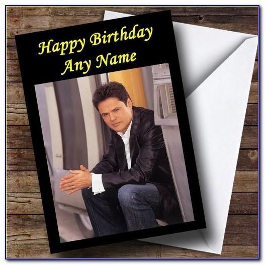 Donny Osmond Birthday Card
