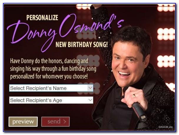 Donny Osmond Birthday Ecard