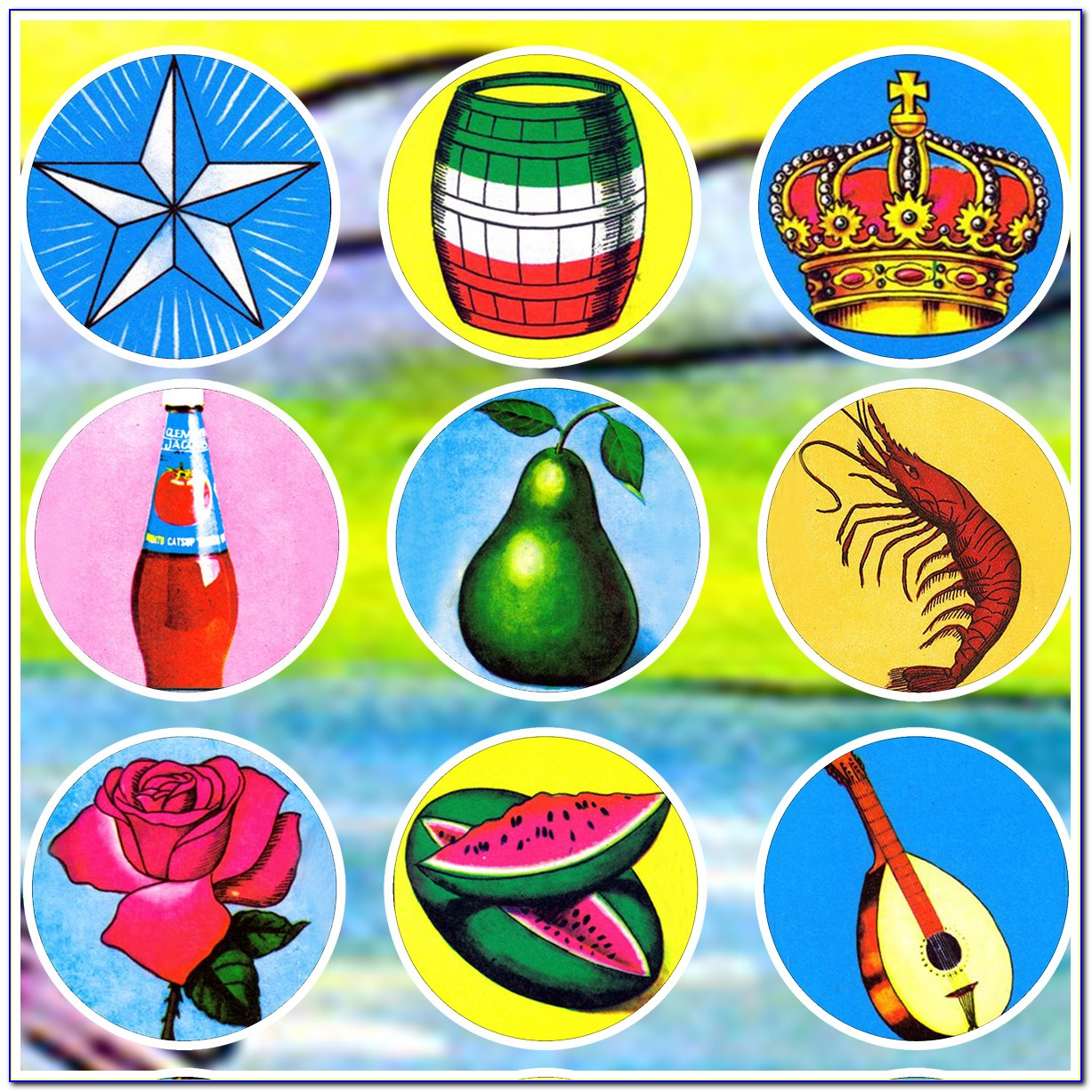 Downloadable Free Printable Loteria Game Cards