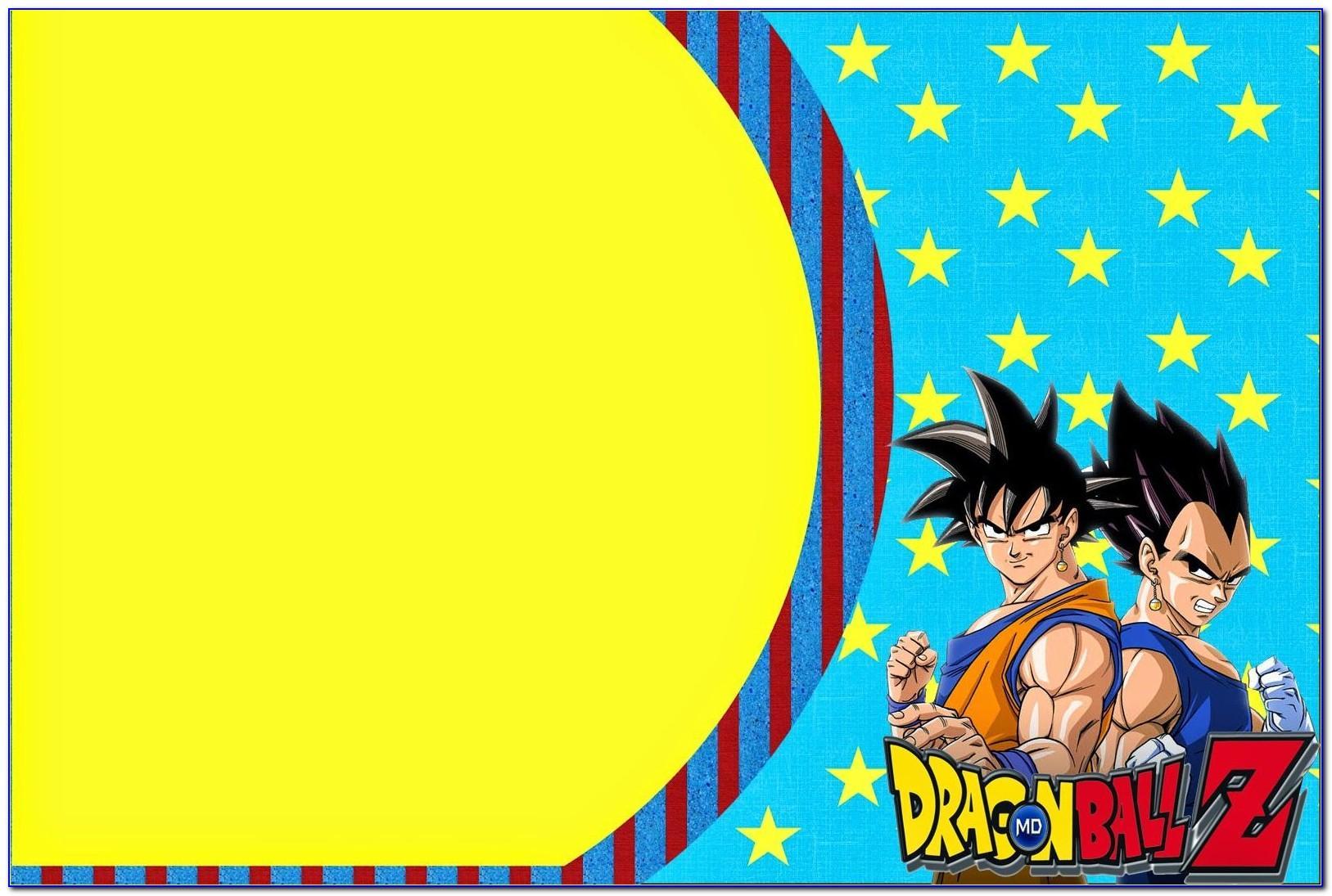 Dragon Ball Z Birthday Card Template
