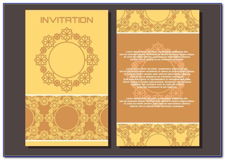 Editable Muslim Wedding Invitation Cards Templates Free Download