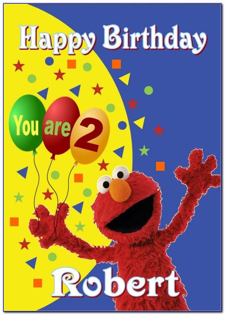 Elmo Birthday Card Printable