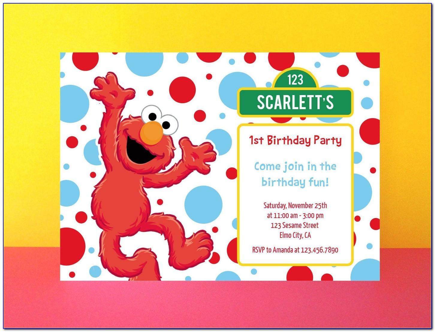 Elmo Birthday Cards Printable Free