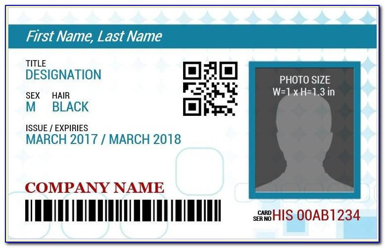 Employee Id Card Template Ai Free Download
