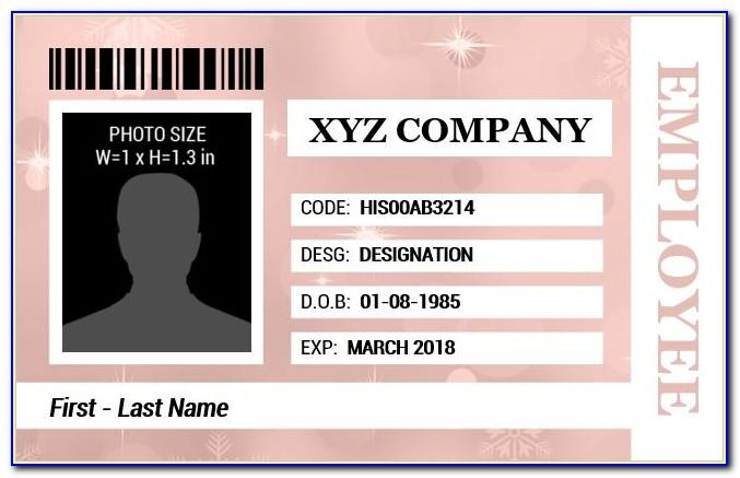 Employee Id Card Template Free Download Excel