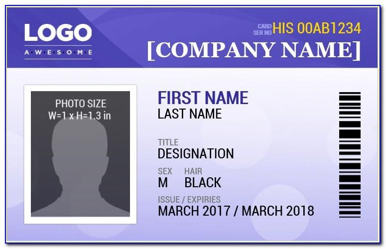 Employee Id Card Template Photoshop Free Download